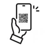 Cell Phone with QR Code